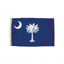 FZ-2392051 - 3X5 Nylon South Carolina Flag Heading & Grommets in Flags