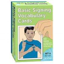 GP-023 - Basic Signing Vocab Cards Set A 100/Pk 4 X 6 in Sign Language
