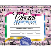 H-VA515 - Certificates Choral 30/Set Achievement Certificate in Music