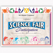H-VA572 - Certificates Science Fair 30/Pk 8.5 X 11 in Science
