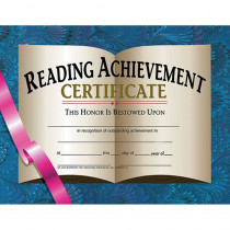 H-VA577 - Certificates Reading Achievement 30 Pk 8.5 X 11 in Language Arts