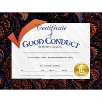 H-VA587 - Certificates Good Conduct 30/Pk 8.5 X 11 in Certificates