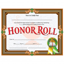 H-VA612 - Certificates Honor Roll 30/Pk 8.5 X 11 Inkjet Laser in Certificates