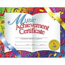H-VA636 - Certificates Music 30/Pk 8.5 X 11 Achievement Inkjet Laser in Music