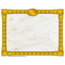 H-VA667 - Gold Block Certificate Border Computer Paper in Design Paper/computer Paper