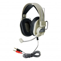 HECHA66M - Deluxe Multimedia Headphone W/ Mic in Headphones