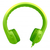 HECKIDSGRN - Green Indestructible Foam Headphone Flexphone in Headphones