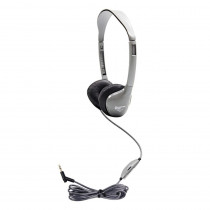 HECMS2LV - Personal Stereo Mono Headphones Leatherette Ear Cushions W/ Volume in Headphones