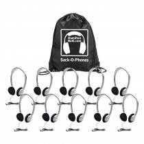 HECSOPHA2 - Sack O Phones 10 Ha2 Personal Head Sets Foam Ear Cushions In Bag in Headphones
