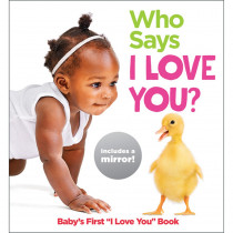 Baby Mirror Who Says I Love You? Board Book - HFC9781684371563 | Highlights For Children | Skill Builders