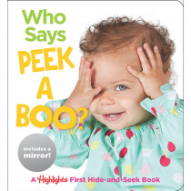 Baby Mirror Who Says Peekaboo? Board Book - HFC9781684379132 | Highlights For Children | Skill Builders