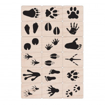 Ink 'n' Stamp Animal Prints Stamps, Set of 18 - HOALL376 | Hero Arts | Stamps & Stamp Pads