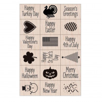 Ink 'n' Stamp A Year of Holidays Stamps, Set of 18 - HOALL809 | Hero Arts | Stamps & Stamp Pads