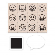 Emoji Icons Stamps Mini Tub, Set of 12 - HOALP407 | Hero Arts | Stamps & Stamp Pads