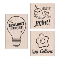 Brillant Effort Wood Stamps Set - HOASB234   Hero Arts   Stamps & Stamp Pads