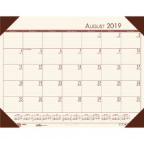 HOD012541 - Academic Ecotones Desk Pad Cream Paper Brown Holder in Calendars