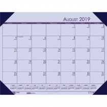 HOD012573 - Academic Ecotones Desk Pad Orchid Paper Cordovan Holder in Calendars