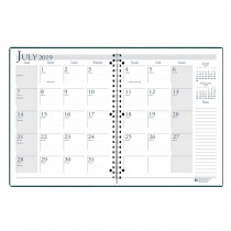 HOD26302 - Academic Monthly Planner 8 1/2 X 11 Black Wirebound in Plan & Record Books