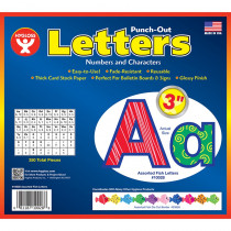 HYG10028 - 3In Punch Out Letters Assorted Fish in Letters