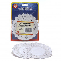 HYG10041 - Doilies 4 White Round 100/Pkg in Doilies