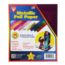 HYG108 - Metallic Paper 2 Each 10 Asst Color in Craft Paper
