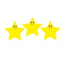 HYG33757 - 7In Happy Yellow Star Diecut Accent in Accents