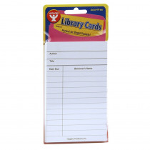 Bright Library Cards, White, Pack of 50 - HYG61435 | Hygloss Products Inc. | Library Cards