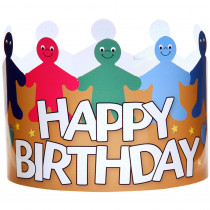 HYG65255 - Happy Birthday Crowns Pack Of 24 in Crowns