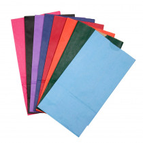 HYG66288 - Bags Sz 6 Gusseted Assorted Colors in Craft Bags
