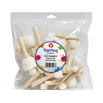 Dot Daubers, 4 Sizes, Pack of 40 - HYG70098 | Hygloss Products Inc. | Paint Brushes