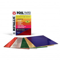 HYG810 - Metallic Paper 10Pk Asst Colors in Craft Paper