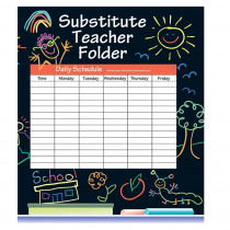 IF-468SF - Substitute Folder Elem Kid 24-Pk 9 X 11 W/ Pocket in Substitute Teachers
