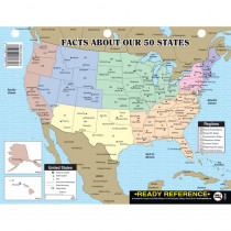 IF-653 - Facts 50 States Learning Card in States & Capitals