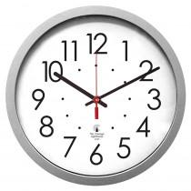 ILC67818003 - 14.5In Slver Cont Clock 12.5In Dial Quartz Movement in Clocks