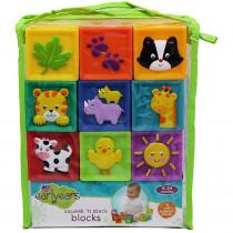 INPE00381 - Squeak N Stack Baby Blocks in Toys
