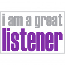 ISM0023P - I Am A Great Listener Poster in Inspirational