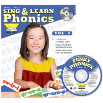 JMP128LK - Sing & Learn Phonics Book Cd Vol 4 in Book With Cassette/cd
