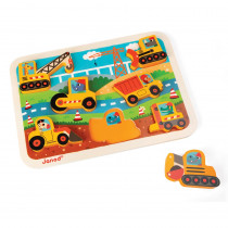 JND07077 - Construction Site Chunky Puzzle in Wooden Puzzles
