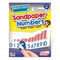 JRL421 - Sandpaper Numbers 0-10 in Letter Recognition