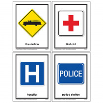 KE-845047 - Gr Pk-2 Survival Signs & Symbols Learning Cards in Character Education