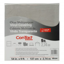 "Clear Vinyl Covering, Multipurpose, 54 x 9' - KIT54C3P20808P | Kittrich Corporation | Desk Accessories"""