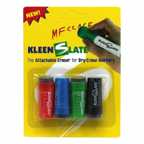 KLS0432 - Attachable Erasers For Dry 4/Pk Erase Markers Carded in Whiteboard Accessories