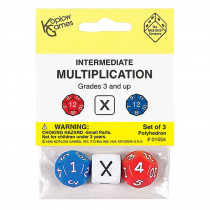KOP01554 - Intermediate Multiplication Dice 3Pk in Multiplication & Division
