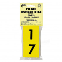 KOP11695 - Foam Dice 2 Numeral Set Of 2 in Dice