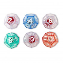 KOP12620 - 12-Sided Dice Set Of 6 in Dice