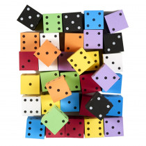 KOP18930 - Asst 2In Foam Spot Dice Bag Of 36 in Dice