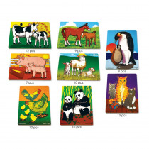 LCI1214 - Mothers And Baby Animals Puzzle Set in Wooden Puzzles