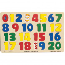 LCI19 - Jumbo Size Wood Puzzle Numbers 0-20 in Wooden Puzzles