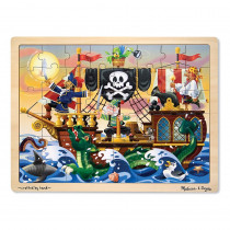 LCI3800 - Pirate 48-Pc Wooden Jigsaw Puzzle in Wooden Puzzles