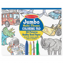 LCI4226 - Jumbo Coloring Pad Blue 11 X 14 in Art Activity Books